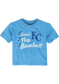 Kansas City Royals Infant Snack Nap T-Shirt - Light Blue