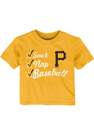 Pittsburgh Pirates Infant Snack Nap T-Shirt - Gold