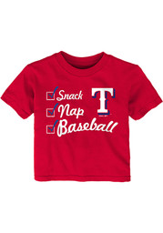 Texas Rangers Infant Snack Nap T-Shirt - Red