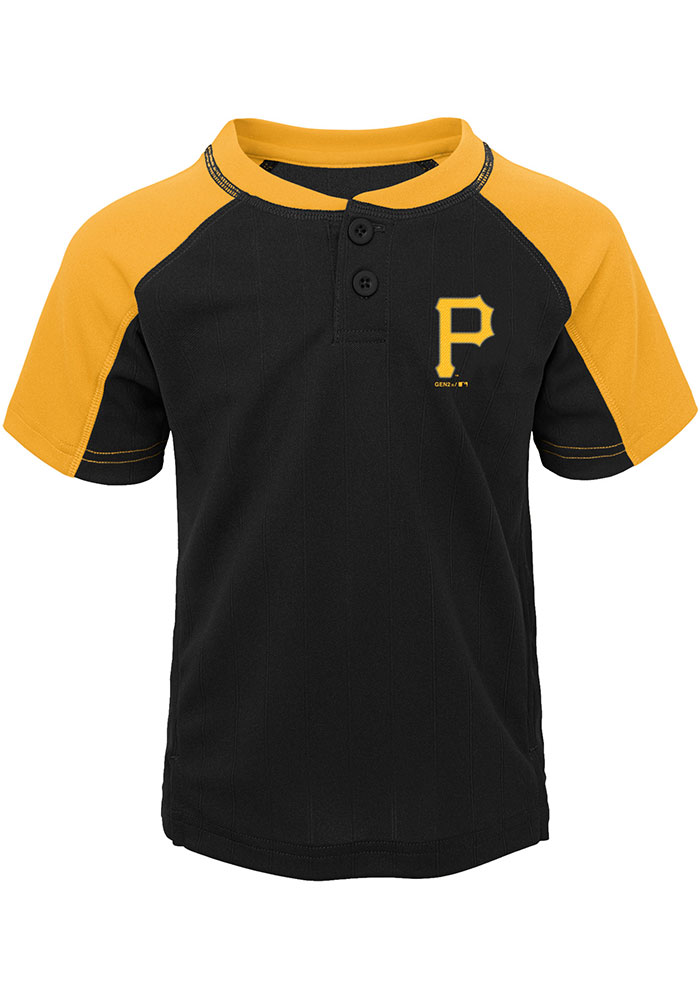 Pittsburgh Pirates Toddler Black Play Strong Set Top and Bottom - Image 2