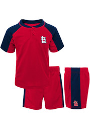 St Louis Cardinals Toddler Play Strong Top and Bottom - Red