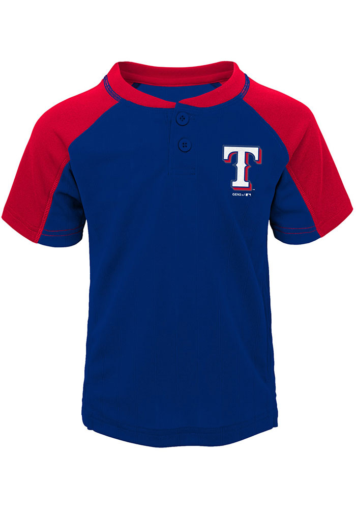 Texas Rangers Toddler Blue Play Strong Set Top and Bottom - Image 2