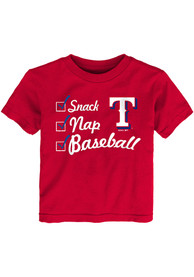 Texas Rangers Toddler Snack Nap T-Shirt - Red