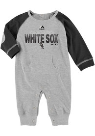 Chicago White Sox Baby Slide Home One Piece - Black