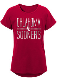 Oklahoma Sooners Girls Glory T-Shirt - Cardinal