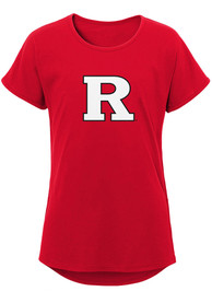 Rutgers Scarlet Knights Girls Primary Dolman T-Shirt - Red
