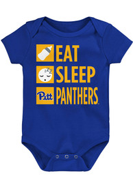 Pitt Panthers Baby Daily Agenda One Piece - Blue