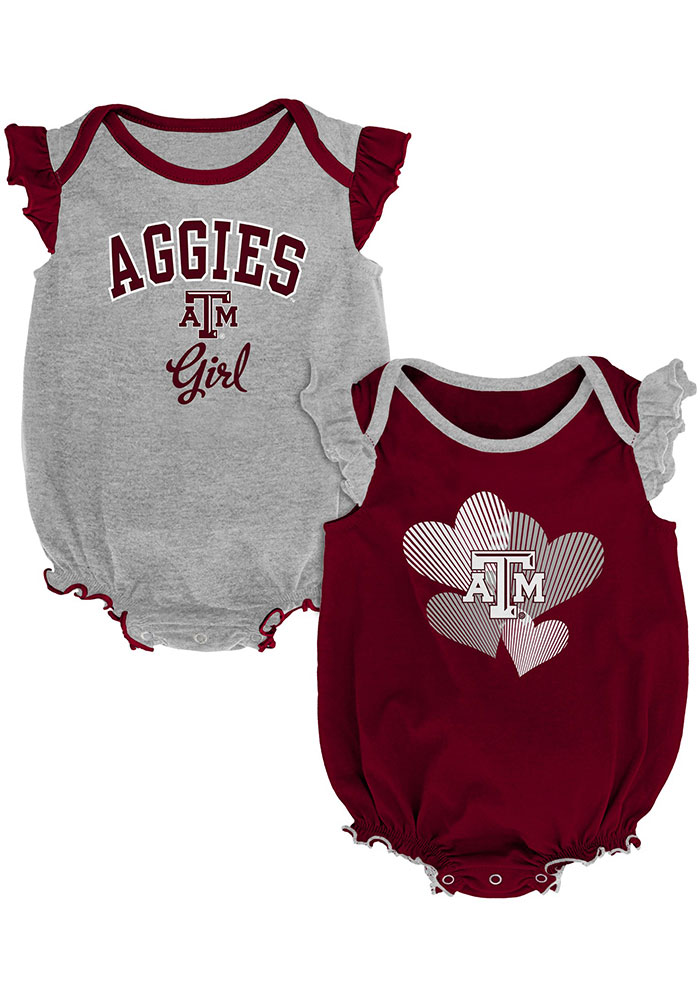 Texas A&M Aggies Baby Celebration One Piece - Maroon