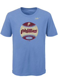 Philadelphia Phillies Youth Nike Cooperstown T-Shirt - Light Blue
