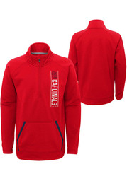 St Louis Cardinals Youth Stealth Mode Quarter Zip - Red