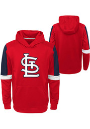 St Louis Cardinals Youth Base Up Hooded Sweatshirt - Red