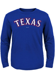 Texas Rangers Baby Wordmark T-Shirt - Blue