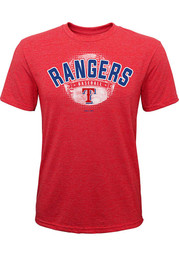 Texas Rangers Youth Americas Past Time Fashion T-Shirt - Red
