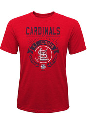 St Louis Cardinals Youth Opening Ceremony Fashion T-Shirt - Red
