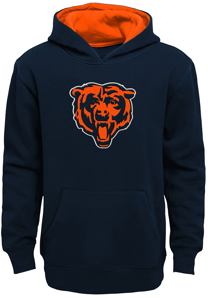 Chicago Bears Youth Prime Hooded Sweatshirt - Navy Blue