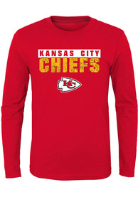 Kansas City Chiefs Youth Bar Code T-Shirt - Red