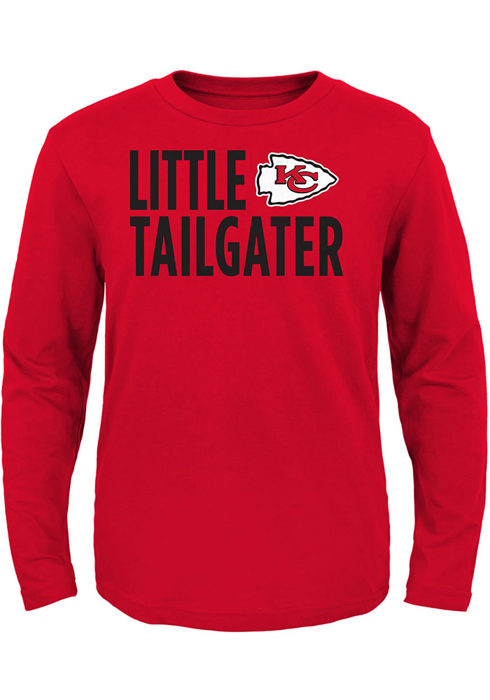 Kansas City Chiefs Toddler Red Little Tailgater Long Sleeve T-Shirt - Image 1
