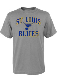 St Louis Blues Youth Arch Mascot T-Shirt - Grey