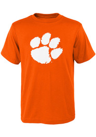 Clemson Tigers Youth Primary Logo T-Shirt - Orange