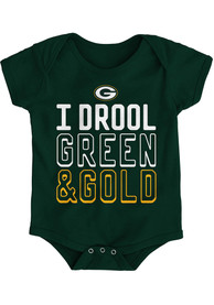 Green Bay Packers Baby Drooler One Piece - Green