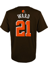 Denzel Ward Cleveland Browns Youth Name and Number T-Shirt - Brown