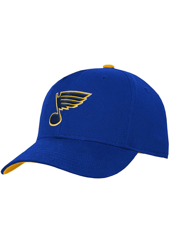 St Louis Blues Blue Basic Structured Youth Adjustable Hat - Image 1