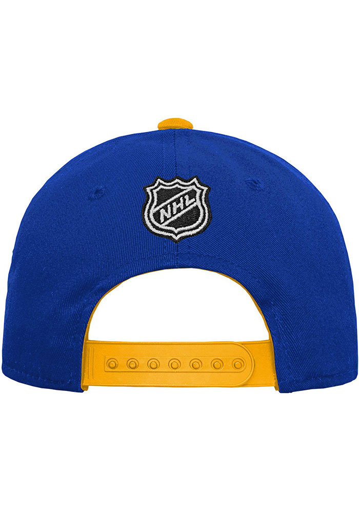 St Louis Blues Blue Basic Structured Youth Adjustable Hat - Image 2