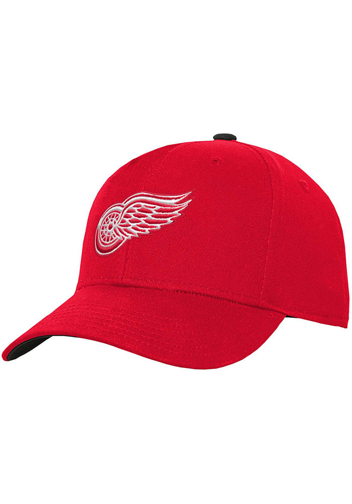 Detroit Red Wings Youth Basic Structured Adjustable Hat - Red
