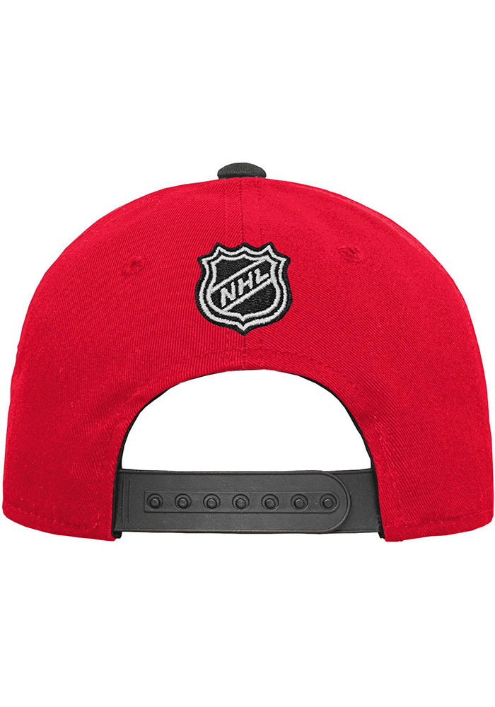 Detroit Red Wings Red Basic Structured Youth Adjustable Hat - Image 2