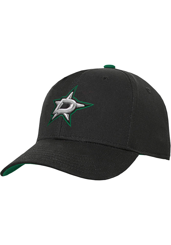 Dallas Stars Black Basic Structured Youth Adjustable Hat - Image 1