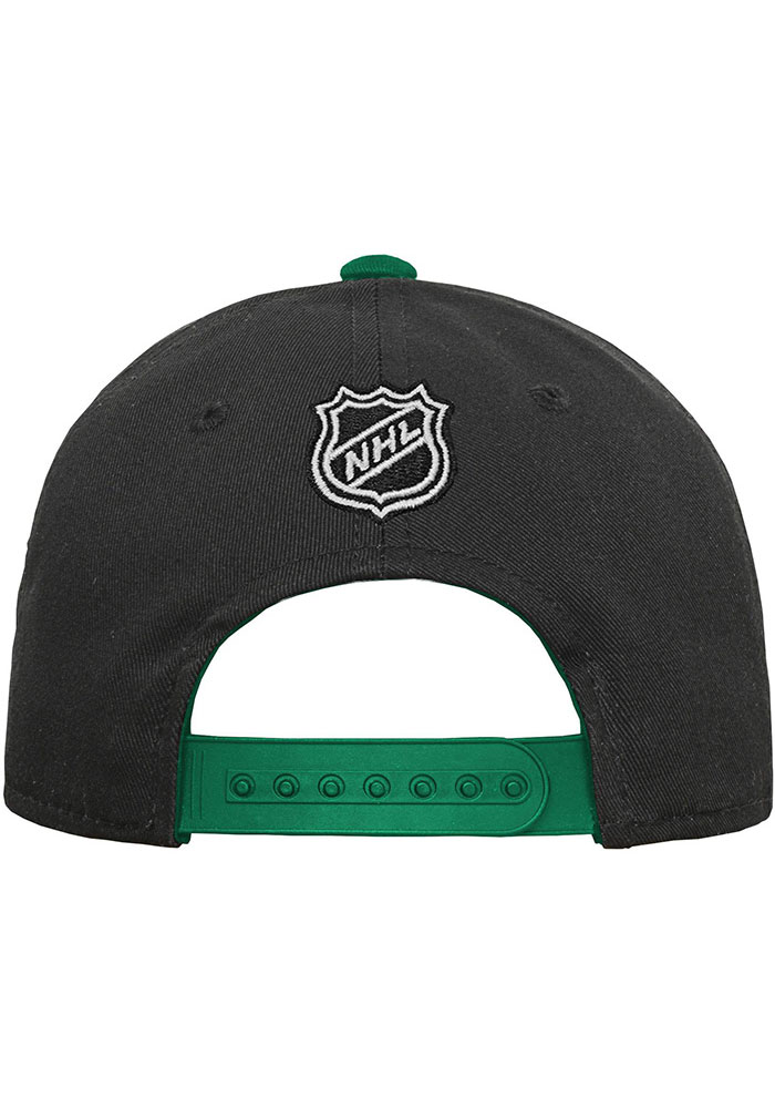 Dallas Stars Black Basic Structured Youth Adjustable Hat - Image 2