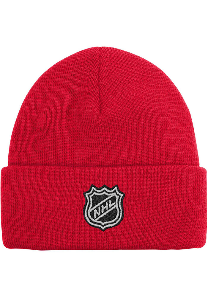 Detroit Red Wings Red Basic Cuff Youth Knit Hat - Image 2