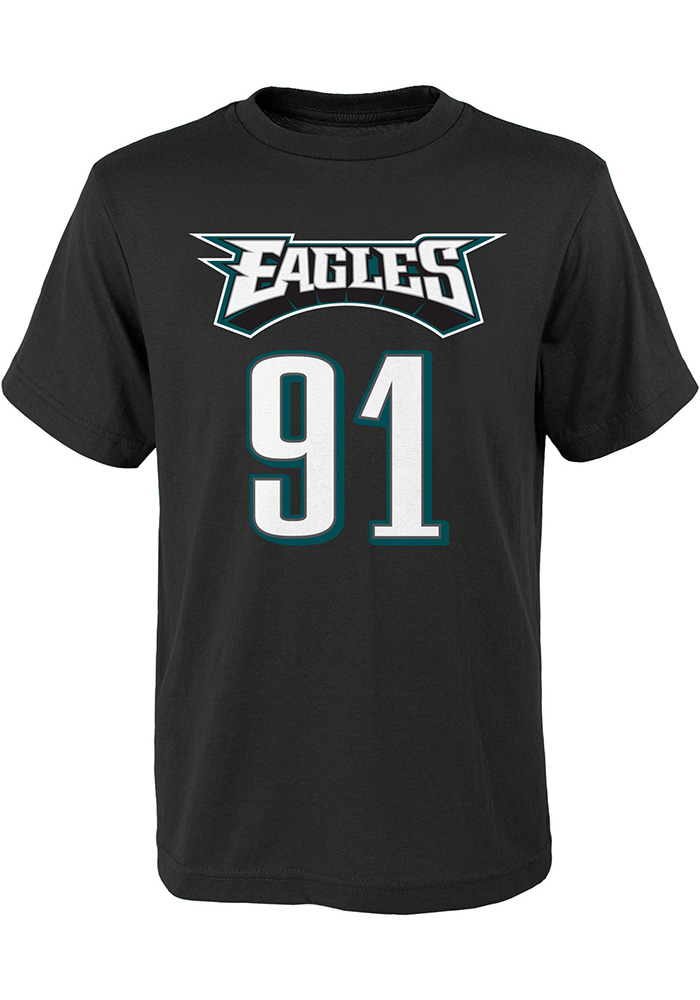 Fletcher Cox Philadelphia Eagles Youth Black Mainliner Player Tee - Image 2