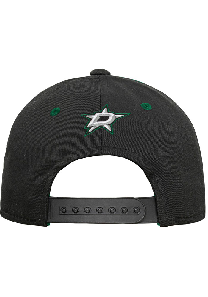 Dallas Stars Black Yth Mascot Structured Youth Adjustable Hat - Image 3
