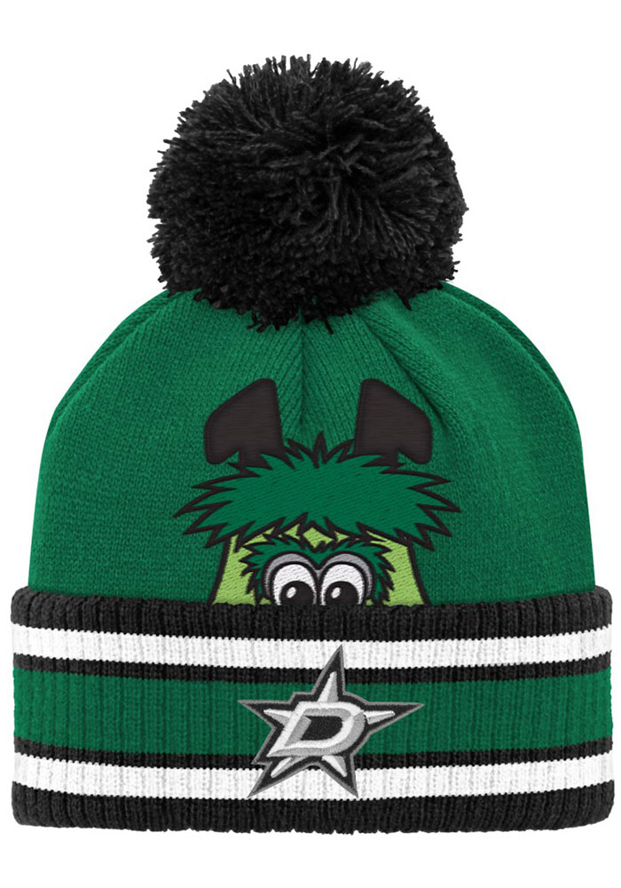 Dallas Stars Youth Yth Mascot Cuff Pom Knit Hat - Green