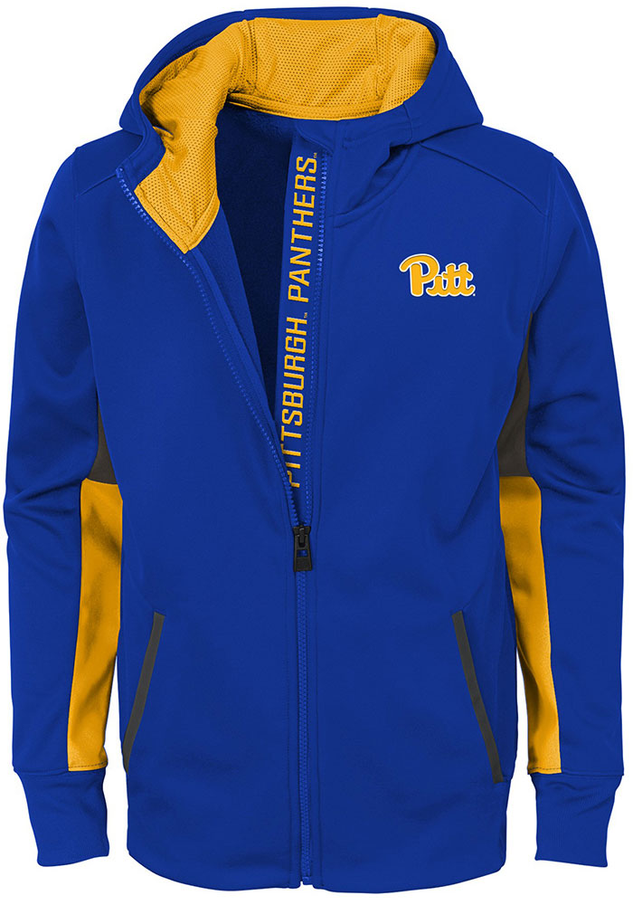 Pitt Panthers Youth Blue Connected Long Sleeve Full Zip Jacket - Image 1