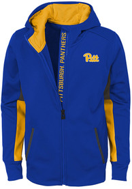 Pitt Panthers Youth Connected Full Zip Jacket - Blue