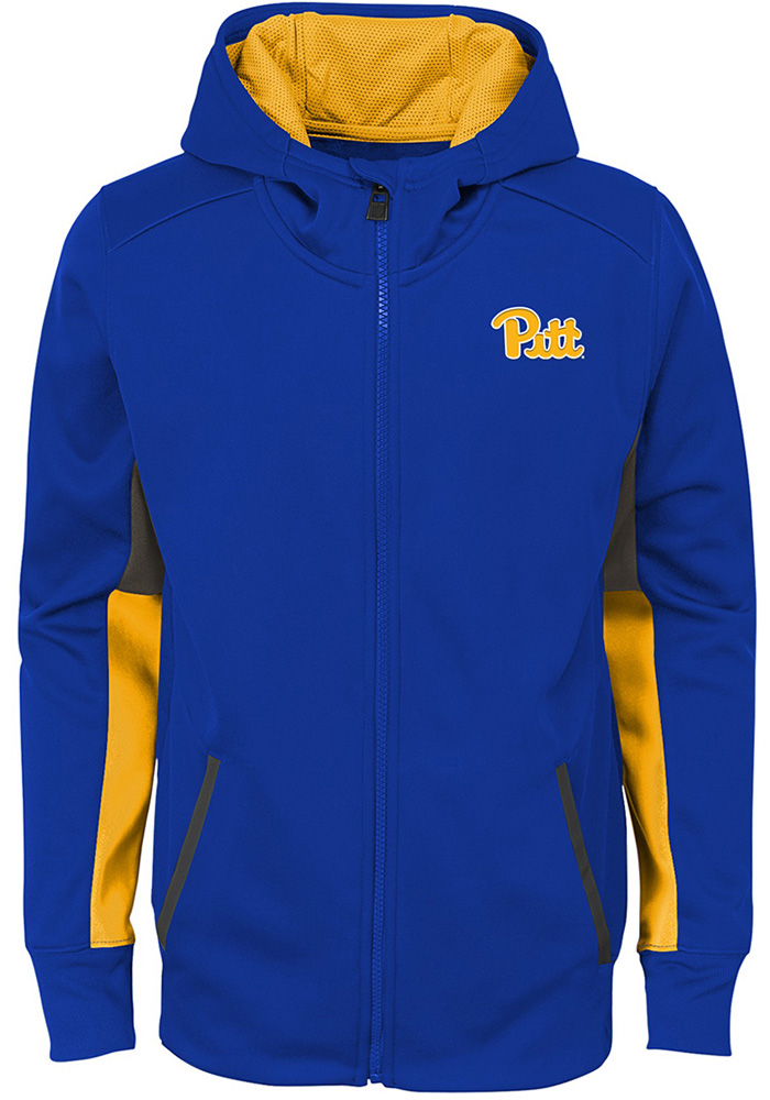 Pitt Panthers Youth Blue Connected Long Sleeve Full Zip Jacket - Image 2