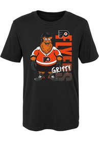 Gritty Philadelphia Flyers Boys Outer Stuff Gritty Tag It T-Shirt - Black