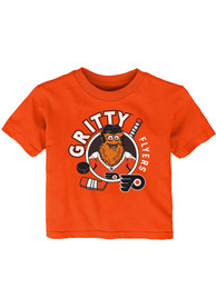 Gritty Philadelphia Flyers Infant Outer Stuff Ready to Play T-Shirt - Orange