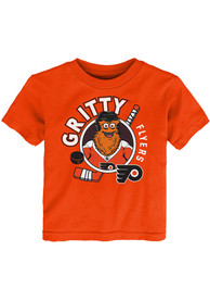 Gritty Philadelphia Flyers Toddler Outer Stuff Gritty Ready to Play T-Shirt - Orange
