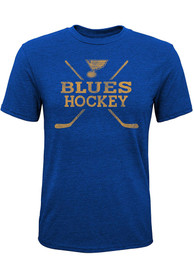 St Louis Blues Youth Score Fashion T-Shirt - Blue