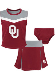 Oklahoma Sooners Toddler Girls Spirit Cheer Cheer - Cardinal