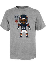 Khalil Mack Chicago Bears Youth Pixel T-Shirt - Grey