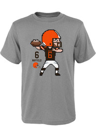 Baker Mayfield Cleveland Browns Youth Pixel T-Shirt - Grey