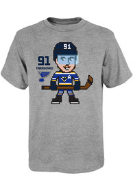 Vladimir Tarasenko St Louis Blues Youth Pixel T-Shirt - Grey