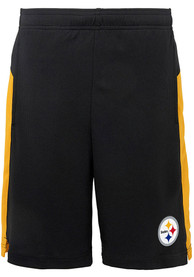 Pittsburgh Steelers Youth Grand Shorts - Black