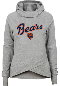 Chicago Bears Girls Legend Funnel Neck Hooded Sweatshirt - Grey