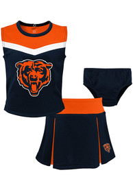 Chicago Bears Toddler Girls Spirit Cheer Cheer - Navy Blue
