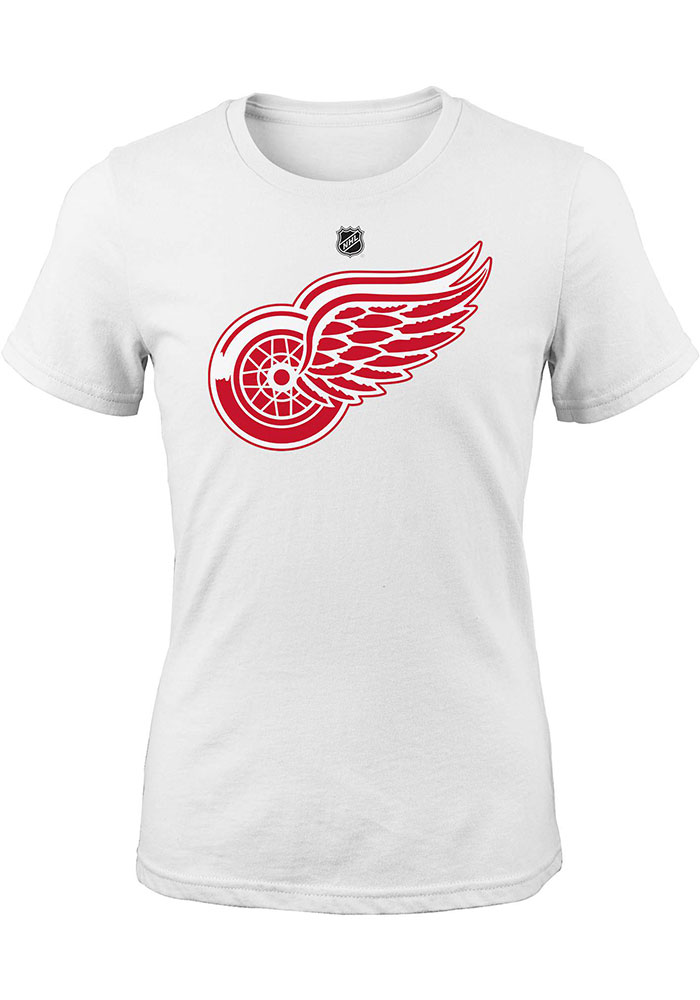 Detroit Red Wings Girls Red Primary Logo Short Sleeve Fashion T-Shirt - Image 1